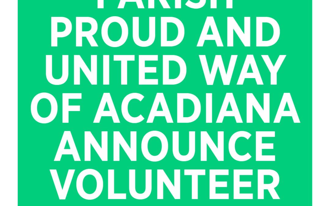 Parish Proud Sponsors Volunteer Center